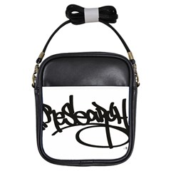 Rdlx Handstyle   Black Print Girl s Sling Bag
