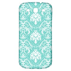 Tiffany Blue And White Damask Samsung Galaxy S3 S Iii Classic Hardshell Back Case by eatlovepray
