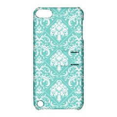 Tiffany Blue And White Damask Apple Ipod Touch 5 Hardshell Case With Stand by eatlovepray