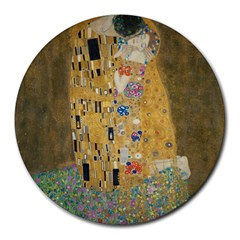 Klimt   The Kiss 8  Mouse Pad (round) by ArtMuseum