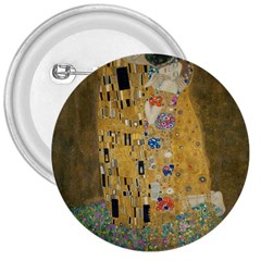 Klimt   The Kiss 3  Button by ArtMuseum