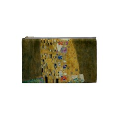 Klimt   The Kiss Cosmetic Bag (small) by ArtMuseum