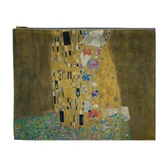 Klimt   The Kiss Cosmetic Bag (xl) by ArtMuseum