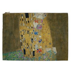 Klimt   The Kiss Cosmetic Bag (xxl) by ArtMuseum