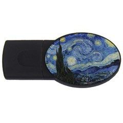 Starry Night 4gb Usb Flash Drive (oval) by ArtMuseum