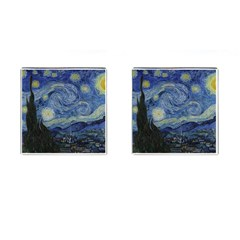 Starry Night Cufflinks (square) by ArtMuseum