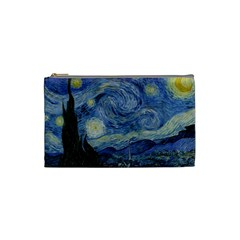Starry Night Cosmetic Bag (small) by ArtMuseum