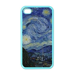 Starry Night Apple Iphone 4 Case (color) by ArtMuseum