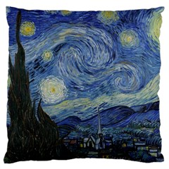 Starry Night Large Cushion Case (two Sides) by ArtMuseum