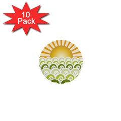 Along The Green Waves 1  Mini Button (10 Pack) by tees2go