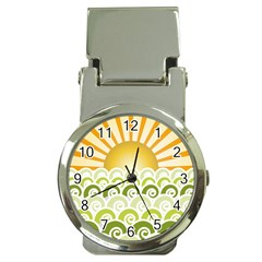 Along The Green Waves Money Clip With Watch by tees2go