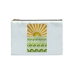 Along The Green Waves Cosmetic Bag (medium) by tees2go