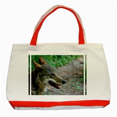 Red Wolf Classic Tote Bag (red)