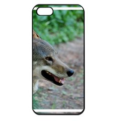 Red Wolf Apple Iphone 5 Seamless Case (black) by AnimalLover