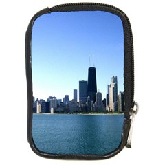 Chicago Skyline Compact Camera Leather Case