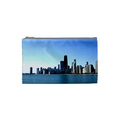 Chicago Skyline Cosmetic Bag (small) by canvasngiftshop