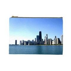 Chicago Skyline Cosmetic Bag (large) by canvasngiftshop