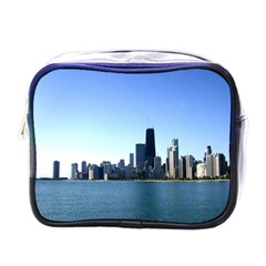 Chicago Skyline Mini Travel Toiletry Bag (One Side)