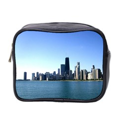 Chicago Skyline Mini Travel Toiletry Bag (Two Sides)