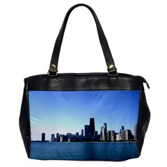 Chicago Skyline Oversize Office Handbag (one Side) by canvasngiftshop