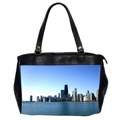 Chicago Skyline Oversize Office Handbag (Two Sides)