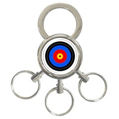 Target 3 Ring Key Chain by hlehnerer