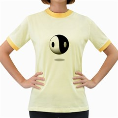 Yin Yang Womens  Ringer T Shirt (colored) by hlehnerer