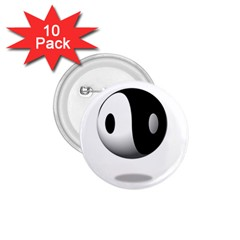 Yin Yang 1 75  Button (10 Pack) by hlehnerer