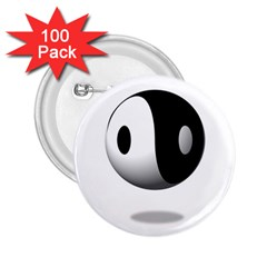 Yin Yang 2 25  Button (100 Pack) by hlehnerer