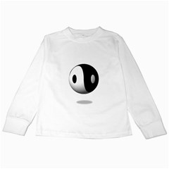 Yin Yang Kids Long Sleeve T Shirt by hlehnerer