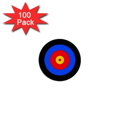 Target 1  Mini Button (100 Pack) by hlehnerer