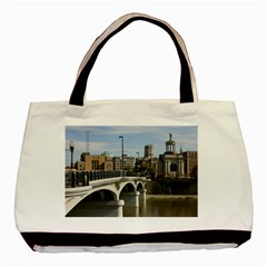 Hamilton 1 Twin Sided Black Tote Bag by pictureperfectphotography