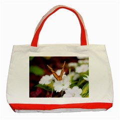 Butterfly 159 Classic Tote Bag (red) by pictureperfectphotography