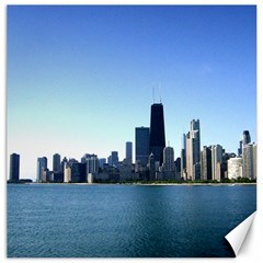 Chicago Skyline Canvas 12  x 12  (Unframed)