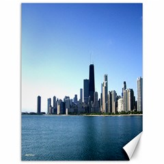 Chicago Skyline Canvas 12  x 16  (Unframed)