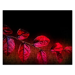Red Leave s  Jigsaw Puzzle (rectangle) by designsbyvee