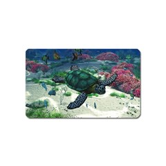 Sea Turtle Magnet (name Card) by gatterwe
