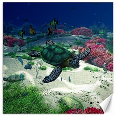 Sea Turtle Canvas 16  X 16  by gatterwe