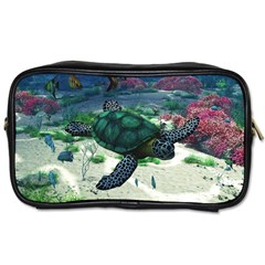 Sea Turtle Travel Toiletry Bag (one Side)