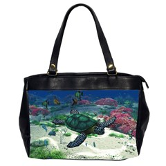 Sea Turtle Oversize Office Handbag (two Sides)