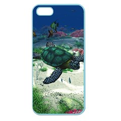 Sea Turtle Apple Seamless Iphone 5 Case (color) by gatterwe