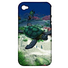 Sea Turtle Apple Iphone 4/4s Hardshell Case (pc+silicone)