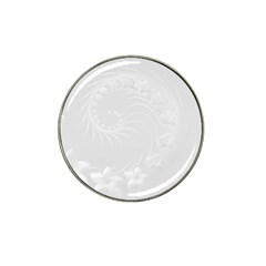 Light Gray Abstract Flowers Golf Ball Marker 4 Pack (for Hat Clip)