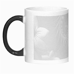 Light Gray Abstract Flowers Morph Mug by BestCustomGiftsForYou