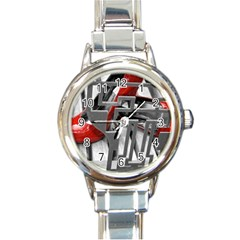 Tt Red Heels Round Italian Charm Watch by dray6389