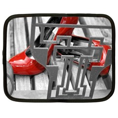 Tt Red Heels Netbook Case (large) by dray6389