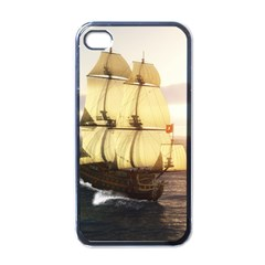 French Warship Apple Iphone 4 Case (black)