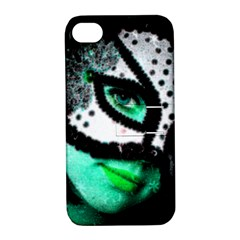 Masked Apple Iphone 4/4s Hardshell Case With Stand