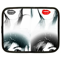 The Girl Netbook Case (large) by dray6389