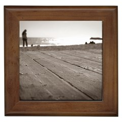 Laguna Beach Walk Framed Ceramic Tile by hlehnerer